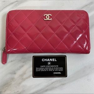 CHANEL Zippered Clutch Wallet Authentic!